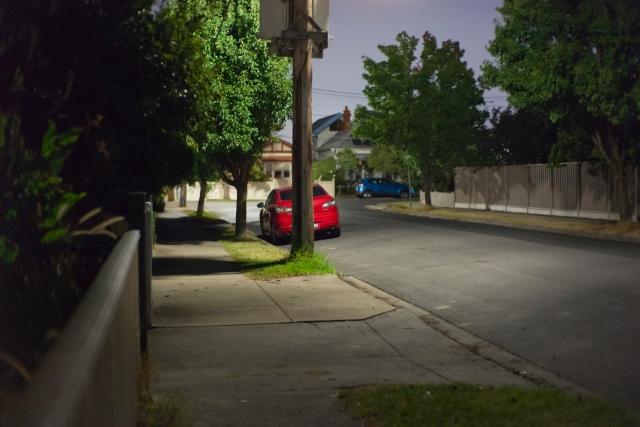 Red car - full moon